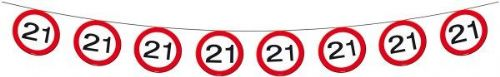 Traffic Sign 21st Party Banner 12M Birthday Decoration